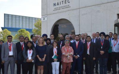 Una delegación de empresas indias del sector de la automoción visita NAITEC