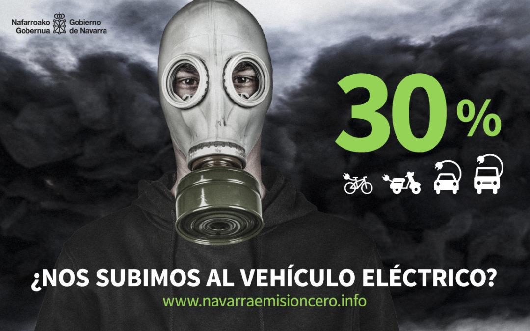 En 2017 crece la matriculación de vehículos eléctricos en Navarra un 82% respecto al año anterior